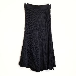 NWT J. Jill Crinkle Black Strapless Dress Medium